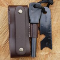 TBS Leather DC3 and Firesteel Pouch